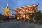 Senso-Ji  an Ancient Buddhist Temple  at Night  Asakusa  Tokyo  Japan  Asia