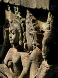 Detail of Carving  Angkor Wat Archaeological Park  Siem Reap  Cambodia  Indochina  Southeast Asia
