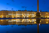 Alexander Column and the Hermitage  Winter Palace  Palace Square  St Petersburg  Russia