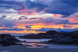 Sunset over Ardtoe Bay  Ardnamurchan Peninsula  Lochaber  Highlands  Scotland  United Kingdom