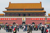 Tiananmen Sqaure in Front of Portrait of Mao Zedong on Gate of Heavenly Peace (Tiananmen Gate)