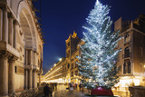 Christmas Tree in St Marks Square  San Marco  Venice  UNESCO World Heritage Site  Veneto  Italy