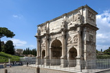 Arch of Constantine  Arch of Titus Beyond  Ancient Roman Forum  Rome  Lazio  Italy