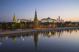 Kremlin Churches and Towers from Moscow River Bridge  Moscow  Russia