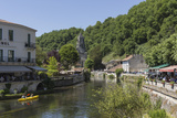 Canoe on River Dronne  Brantome  Dordogne  Aquitaine  France  Europe