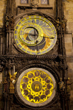 Astronomical Clock on the Town Hall  Old Town Square  Prague  Czech Republic