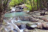 Erawan Falls  Kanchanaburi  Thailand  Southeast Asia  Asia