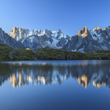 Grandes Jorasses and Dent Du Geant Reflected at Sunrise in Lac Des Cheserys