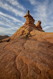 Sandstone Formations under Clouds