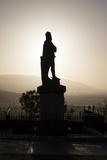 Silhouette of Statue of Robert the Bruce at Sunrise  Stirling Castle  Scotland  United Kingdom