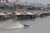 View of Life Along the Tonle Sap River Headed Towards Phnom Penh  Cambodia  Indochina
