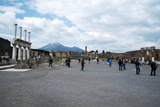 The Forum of Pompeii with Mount Vesuvius in the Background  Pompeii  Campania  Italy