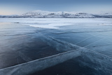 A Frozen Lake  So Clear its Possible to See Through the Ice  Near Absiko  Sweden