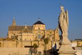 The Roman Bridge and the Mezquita Cathedral  Cordoba  Andalucia  Spain
