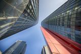 New Architecture in Qianjiang New Town  the New Business District of Hangzhou  Zhejiang  China