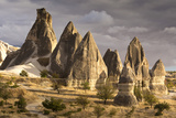 Unusual Rock Formations in the Rose Valley  Cappadocia  Anatolia  Turkey  Asia Minor  Eurasia