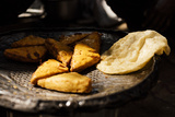 Cooked Bhature and Samosas  Sector 7  Chandigarh  Punjab and Haryana Provinces  India