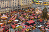 Overview of the Dresden Strietzelmarkt Christmas Market  Dresden  Saxony  Germany  Europe