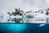 Above and Below Water View of Iceberg at Booth Island  Antarctica  Polar Regions