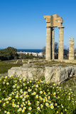 Temple of Apollo at the Acropolis  Rhodes  Dodecanese  Greek Islands  Greece  Europe