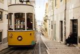 Tram in Elevador Da Bica  Lisbon  Portugal