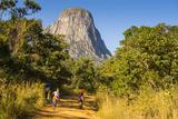 Dusty Track Laeding to the Granite Peaks of Mount Mulanje  Malawi  Africa
