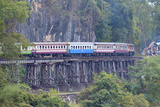 River Kwai Train Crossing the Wampoo Viaduct on the Death Railway Above the River Kwai Valley