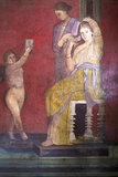 The Baccantis before the Feast in the Triclinium in the Villa Dei Misteri  Pompeii  Campania  Italy