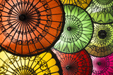 Colourful Painted Umbrellas  Parasols Made from Paper and Bamboo  Nyaung-U