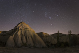 Night Time in the Rose Valley Showing the Rock Formations and Desert Landscape Light