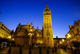 Seville Cathedral and Giralda  Seville  Andalucia  Spain