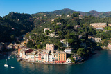 The Bay of Portofino Seen from Castello Brown  Genova (Genoa)  Liguria  Italy  Europe