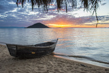 Fishing Boat at Sunset at Cape Malcear  Lake Malawi  Malawi  Africa