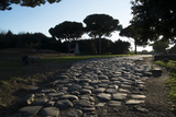 Main Decumano in the High Street  Ancient Ostia (Ostia Antica)  Rome  Lazio  Italy  Europe