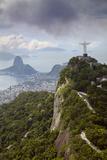 Rio De Janeiro Landscape Showing Corcovado  the Christ and the Sugar Loaf  Rio De Janeiro  Brazil