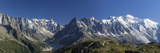 Panorama of the Mountain Range of Mont Blanc  Haute Savoie  French Alps  France