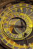 Astronomical Clock on the Town Hall  Old Town Square  Prague  Czech Republic  Euruope