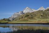 Lai Da Vons  Small Lake in the Alps  Graubunden  Swiss Alps  Switzerland  Europe
