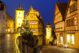 Christmas Tree at the Plonlein  Rothenburg Ob Der Tauber  Bavaria  Germany  Europe
