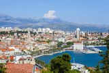 Elevated View over Split's Picturesque Stari Grad and Harbour  Split  Dalmatia  Croatia  Europe