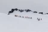 Lindblad Expeditions Guests from the National Geographic Explorer Hiking at Orne Harbor  Antarctica