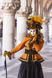 People in Masks and Costumes  Carnival  Venice  Veneto  Italy  Europe