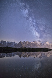 A Sharp Milky Way on a Starry Night at Lac Des Cheserys with Mont Blanc's Highest Peak