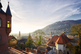 A View over the Misty Old Town of Heidelberg  Baden-Wurttemberg  Germany