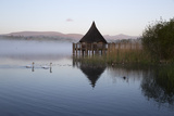 Llangorse Lake and Crannog Island in Morning Mist