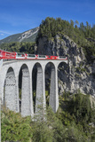 Landwasser Viadukt  Filisur  Graubunden  Swiss Alps  Switzerland  Europe
