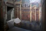 Geometric Frescoes of the Cubicola in the Villa Dei Misteri  Pompeii  Campania  Italy