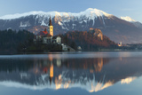 The Assumption of Mary Pilgrimage Church on Lake Bled and Bled Castle  Bled  Slovenia  Europe