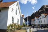 Houses in Fjallbacka  Bohuslan Region  West Coast  Sweden  Scandinavia  Europe