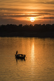 Sunrise on the Tonle Sap River Near the Village of Kampong Tralach  Cambodia  Indochina